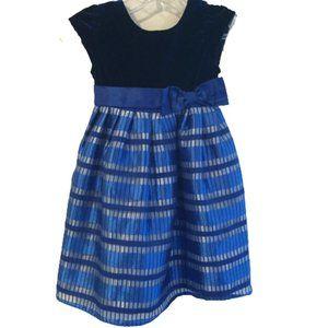Joan Michelle Shinny Blue Dress